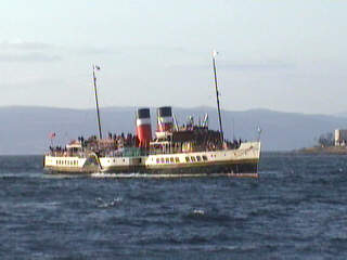 The Waverley off Largs Pier